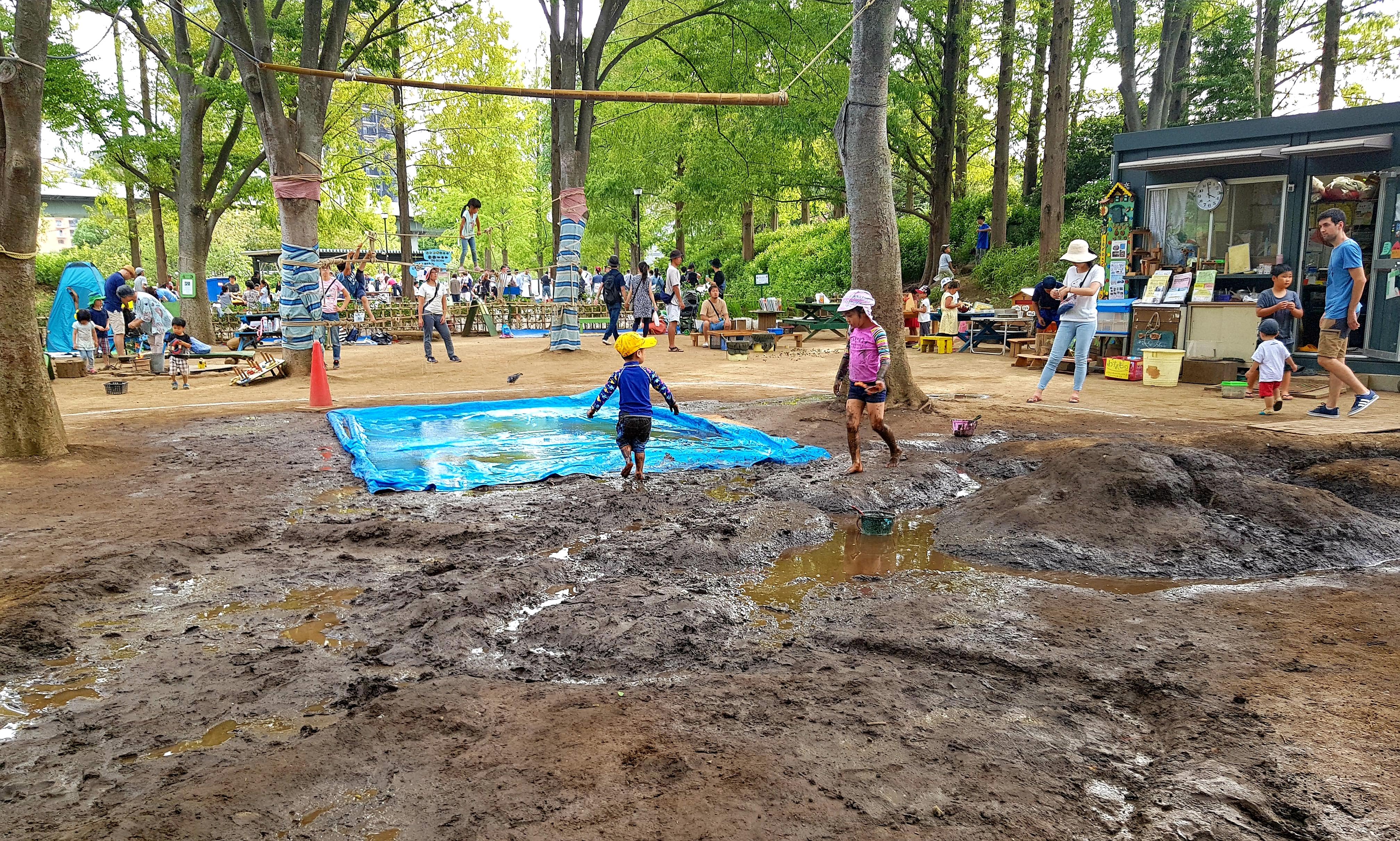 Cum îşi călesc japonezii copiii în parcuri publice de aventură
